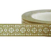 10mm Gold Lace Paper Tape*