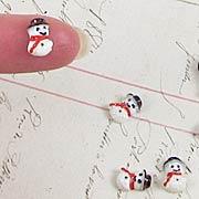 Tiny 10mm Resin Snowman