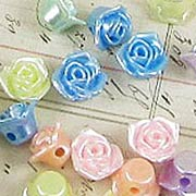 12mm Acrylic Rose Beads - Mixed Colors*