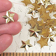Flat-Back Gold Star Studs - 12mm*