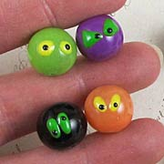 14mm Mixed Color Halloween Beads with Eyes