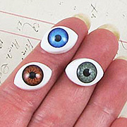 14x10mm Flat Back Oval Eye Cabochons