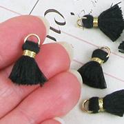 15mm Black & Gold Tassels