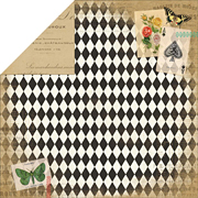 Yesterday Papillon Scrapbook Paper