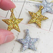 1 Inch Glittered Star Ornaments