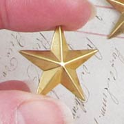 1 Inch Brass Star No Loop*