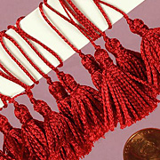 1 Inch Mini Tassel - Red