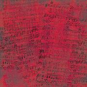 Red Music Scrapbook Paper