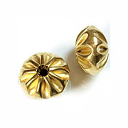 Puffy Pleated Brass Bead - 20mm