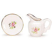 Miniature Rose Pitcher Set
