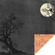 Happy Haunting - Full Moon Scrapbook Paper