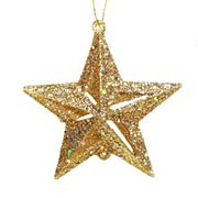 2 Inch Gold Star Ornaments