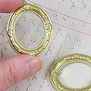 Set of 2 Gold Oval Frames