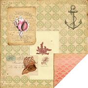 Maritime Coquille Scrapbook Paper