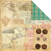Maritime Sirene Scrapbook Paper