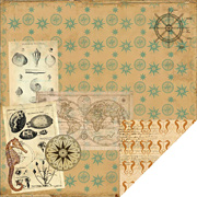 Maritime Boussole Scrapbook Paper
