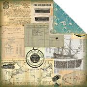 Maritime Voilier Scrapbook Paper