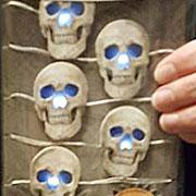 Lighted Mini Skull Garland