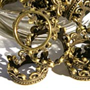 Antique 3D Gold Crowns