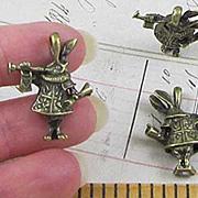 Bronze 3D Alice in Wonderland Herald Rabbit*