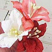 Mulberry Paper Lilies - Red & White Mix*
