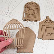 Chipboard Bird Cage Tags*