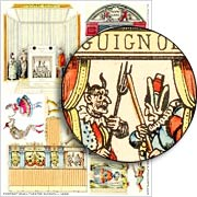Portrait Small Theater Guignol Collage Sheet