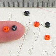 4mm Orange and Black Button Mix