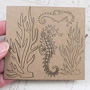 Seahorse and Seaweed Set - 4 pieces