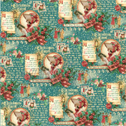 Christmas Carol Scrapbook Paper - Seasonal Sentiments