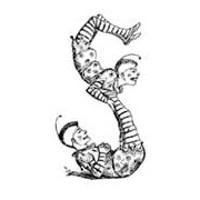 Acrobats (S-shaped) Rubber Stamp