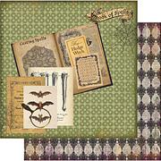Wicked Gypsy - Book of Spells Scrapbook Paper