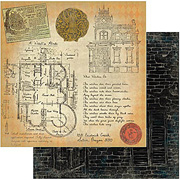 Wicked Gypsy - A Haunted Abode Scrapbook Paper