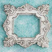 Shabby Chic Square Resin Frames