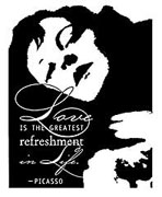 Picasso Quote Rubber Stamp - Unmounted only