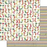 Chimney Stockings Scrapbook Paper