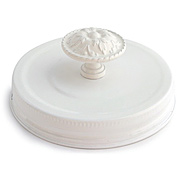 Mason Jar Toppers - Lid with Knob*