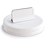 Mason Jar Toppers - Lid with Label Holder*
