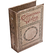 Tim Holtz Christmas Wishes Worn Book Cover