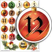 Advent Calendar Collage Sheet