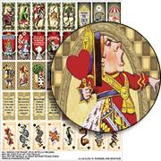 Alice in Wonderland Dominoes Collage Sheet