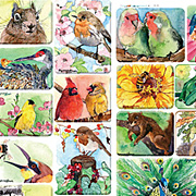 Nature Watercolors Stickers