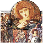 Art Nouveau Angels Collage Sheet