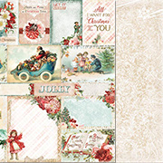 Vintage Christmas Scrapbook Paper - Holiday Cards