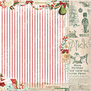Vintage Christmas Scrapbook Paper - Holiday Treats