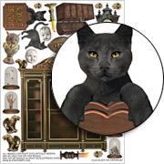Black Cat Emporium Collage Sheet