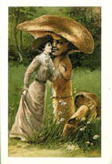 A Mushrooming Romance Postcard