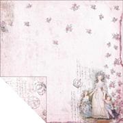 Marie Antoinette Pink Lady Scrapbook Paper