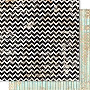 Cashmere Dame Chevron Scrapbook Paper