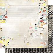 Cashmere Dame Honeycomb Scrapbook Paper